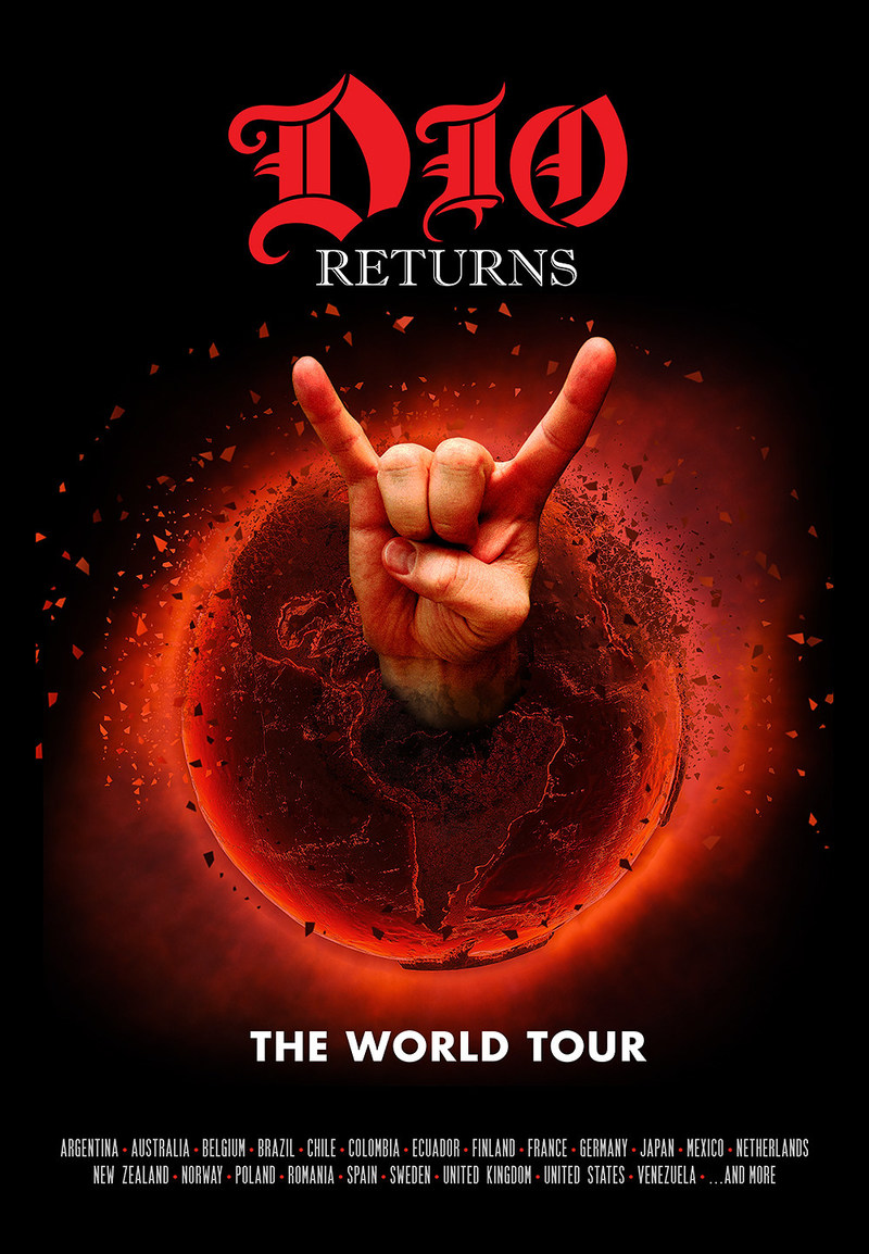 """DIO Returns: The World Tour"" poster"