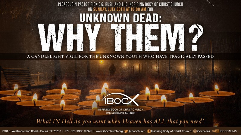 """Unknown Dead: Why Them?"""