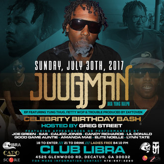 Juugman, AKA Yung Ralph Celebrates His EP Release & Birthday With an All-Star Cast July 30 in Atlanta