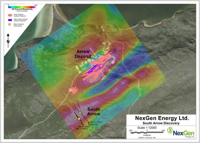 Figure 1: South Arrow Drill Hole Locations (CNW Group/NexGen Energy Ltd.)