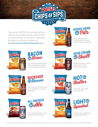 "Ruffles Introduces ""Chips & Sips"" - The Ultimate Summer Pairing Guide For Ice Cold Beers and Your Favorite Ridged Chips"