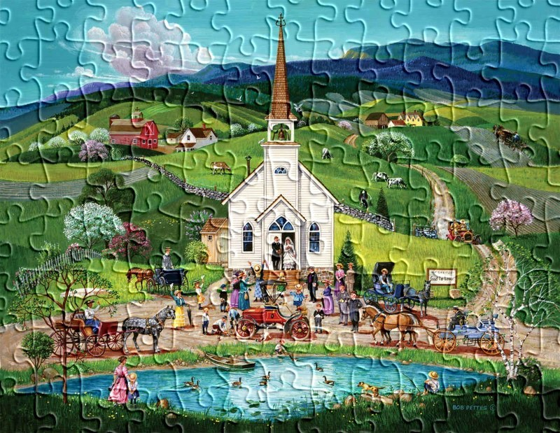 Spring Wedding – Springbok Puzzle to Remember