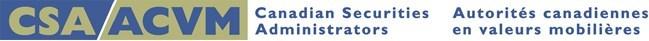 Logo : Canadian Securities Administrators (CNW Group/Autorité des marchés financiers)