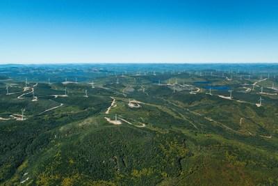 Parc éolien Seigneurie de Beaupré 2 & 3 (Phase 1) des parcs éoliens de la Seigneurie de Beaupré. (Groupe CNW/Gaz Métro)