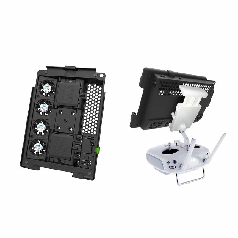 Active Cooling Mount for iPads with Drone Bracket Inserted in DJI Mobile Device Holder