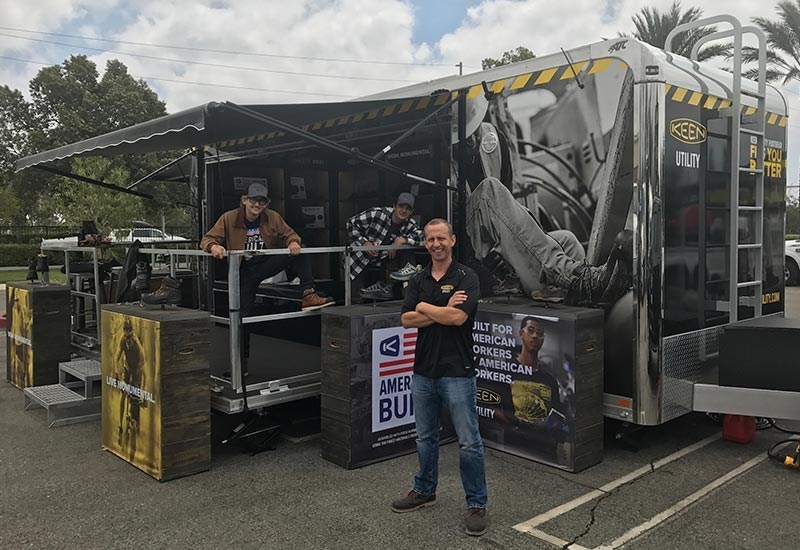 KEEN Utility hits the road with transforming Road Show rig