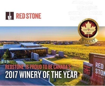 Redstone Winery Captures 2017 Canadian Winery of the Year (Photo credit: Ron Lane Photography) (CNW Group/Red ...