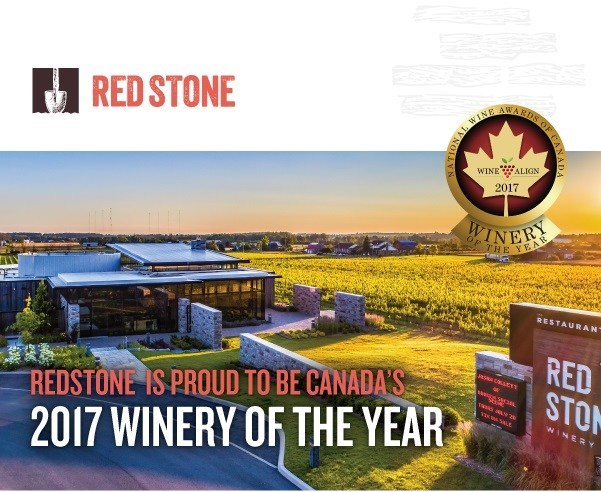 Redstone Winery Captures 2017 Canadian Winery of the Year (Photo credit: Ron Lane Photography) (CNW Group/Red Stone Winery)