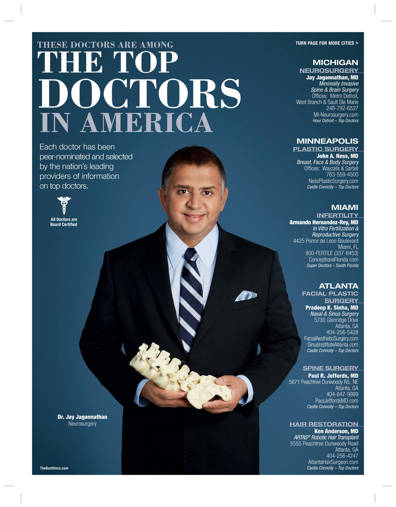Dr. Jagannathan featured in Delta Sky Magazine as among the Top Doctors in America
