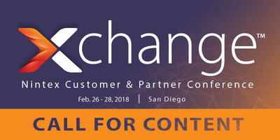 Nintex is seeking speakers for its 2018 Nintex xchange™ Conference, the premier workflow event for Nintex customers and partners taking place February 26-28, 2018, in San Diego.
