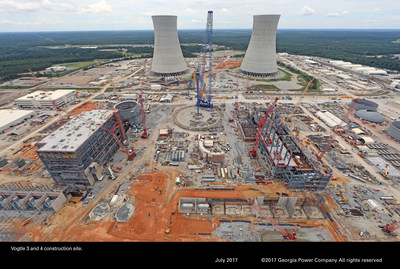 Units 3 & 4 under construction at Plant Vogtle near Waynesboro, Georgia.