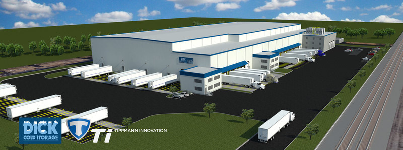 Tippmann Innovation and Dick Cold Storage Break Ground on a New Cold Storage Facility