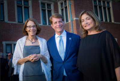 The photo is from the recent Hackensack University Medical Center Foundation Endowed Chair Investiture.  From left: Dr. Bonita Stanton, founding dean of Seton Hall-Hackensack Meridian School of Medicine, Robert C. Garrett, co-CEO of Hackensack Meridian Health, his wife Laura C. Garrett, founder of Realtime Nutrition.