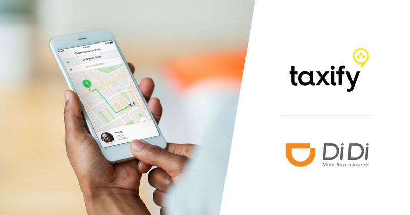 Taxify, Rideshare Leader in Europe and Africa, Announces Strategic Partnership with Didi Chuxing to Support Cross-Regional Transportation Innovation (PRNewsfoto/Taxify and DiDi Chuxing)