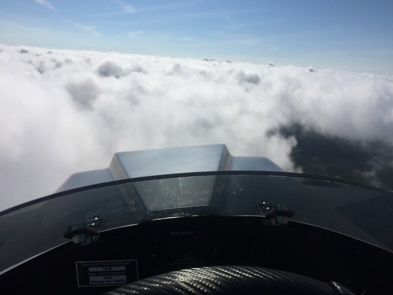SkyRunner above the clouds. Photo courtesy of SkyRunner.
