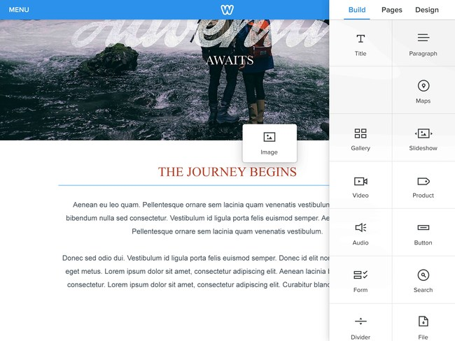 Weebly offers an impressive array of professional features including mobile responsiveness, custom forms, unlimited web pages, site search, password protection, advanced analytics, and more.