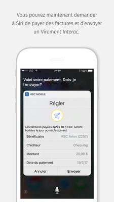 Image du dernier écran lors du paiement d'une facture au moyen de la fonction Siri du iPhone. (Groupe CNW/RBC Banque Royale)