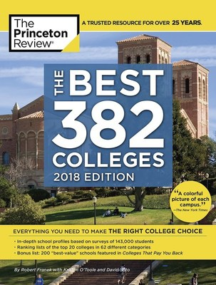 The Princeton Review's 26th Annual College Rankings Due Out Soon on Company's Site and in its Book, The Best 382 Colleges, 2018 Edition-on sale August 1st