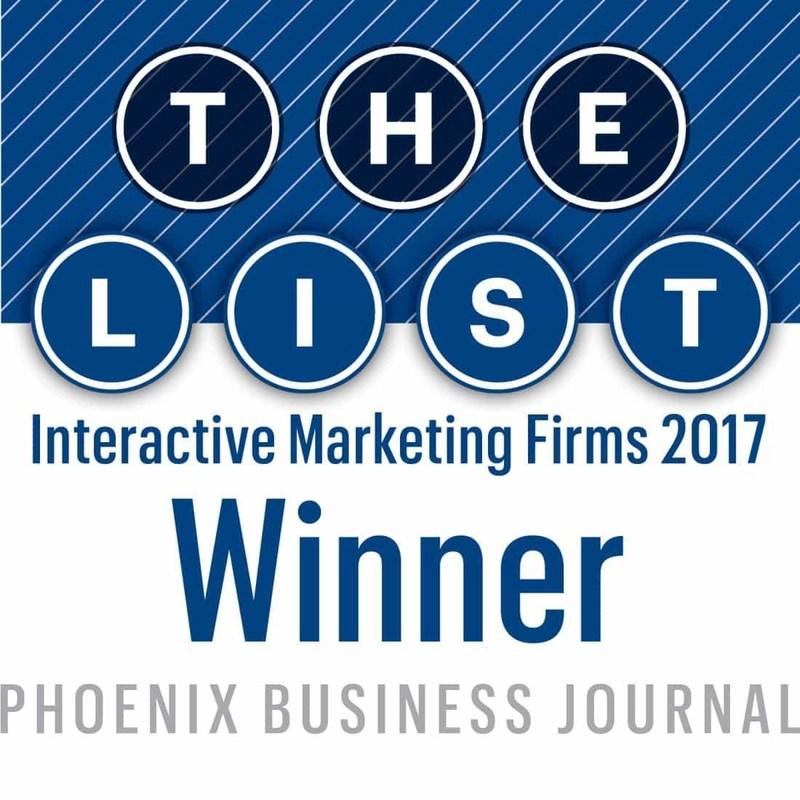 Phoenix Business Journal Interactive Marketing Firms 2017 Winner