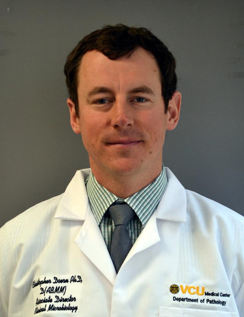 Figure 1: Chris Doern, PhD, Associate Director of Microbiology at Virginia Commonwealth University Health System