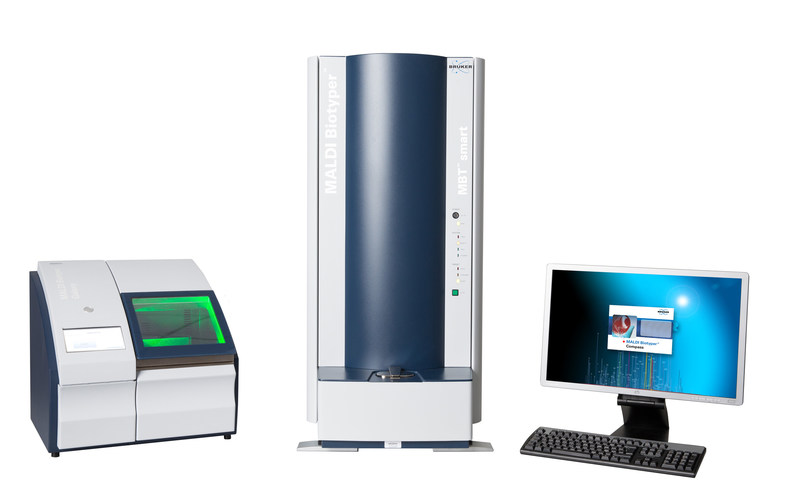 Figure 2: MALDI Biotyper-CA based on microflex smart system with optional MBT Galaxy automation tool