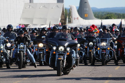 Over 1,500 Harley-Davidson® Owners Group (H.O.G. ®) members from across North America gathered in Ottawa for the 2017 National H.O.G. Rally from Thursday, July 27 – Saturday, July 29. A parade and community event took place on Saturday, July 29 at Freedom Harley-Davidson of Ottawa dealership on Merivale Rd. (CNW Group/Harley-Davidson Canada)