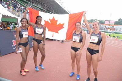 Relay 4X100m – bronze medal (CNW Group/Canadian Heritage)