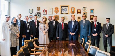 H.E. Dr. Abdullah Belheif Al Nuaimi, Minister of Infrastructure Development and Chairman of the FTA and UAE delegation during the meeting with IMO Secretary General and members. (PRNewsfoto/Federal Transport Authority)