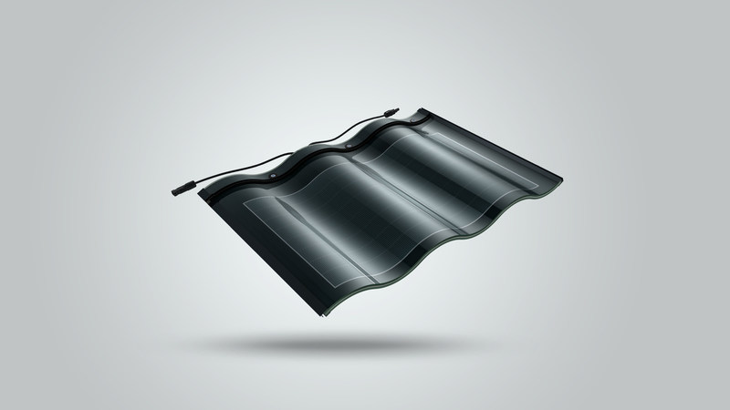Hanergy's triple arch solar tile
