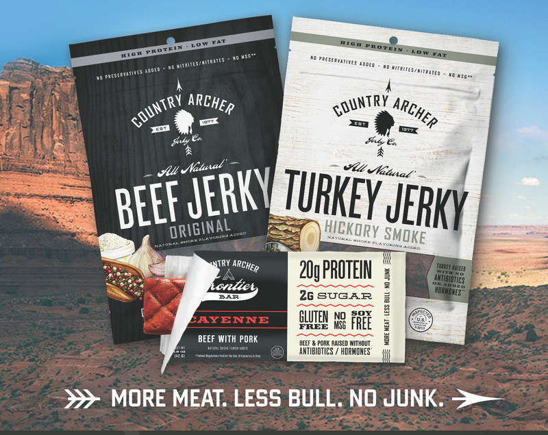 Country Archer Jerky and Frontier Bars: Deliciously healthy high protein meat snacks for the modern day no-nonsense carnivore.