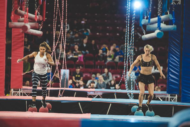 Wolfpack Women Showdown: Meagan Martin vs. Jessie Graff - a high adrenaline race for the Wolfpack Ninja Title.