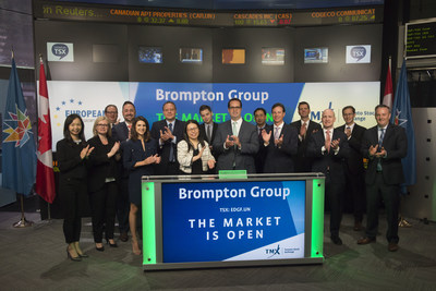 Mark Caranci, Director, President and CEO, Brompton Group, joined Dani Lipkin, Head, Business Development, Exchange Traded Funds, Closed-End Funds, and Structured Notes, TMX Group to open the market to launch European Dividend Growth Fund (EDGF.UN). Founded in 2000, Brompton Funds, a division of Brompton Group, is an investment fund manager which offers a suite of Toronto Stock Exchange traded funds, mutual funds, hedge funds and flow-through limited partnerships. EDGF.UN commenced trading on Toronto Stock Exchange on July 21, 2017. (CNW Group/TMX Group Limited)