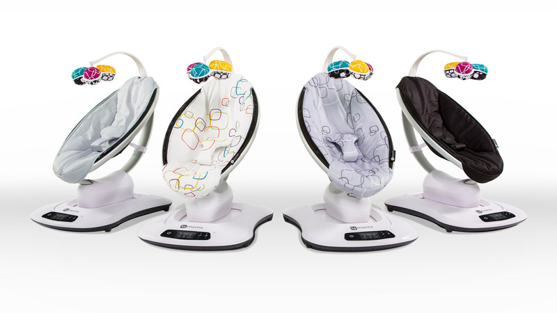 The NEW mamaRoo4 is the only infant seat that 'moves like you do,' and includes an updated user interface, four new modern fabric designs, and interactive reversible toy balls complete with a crinkle ball, rattle, and reflective mirror.