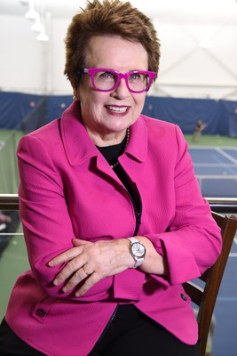 Billie Jean King, former number world number one professional tennis player, who is well known for her advocacies for gender equality and social justice.