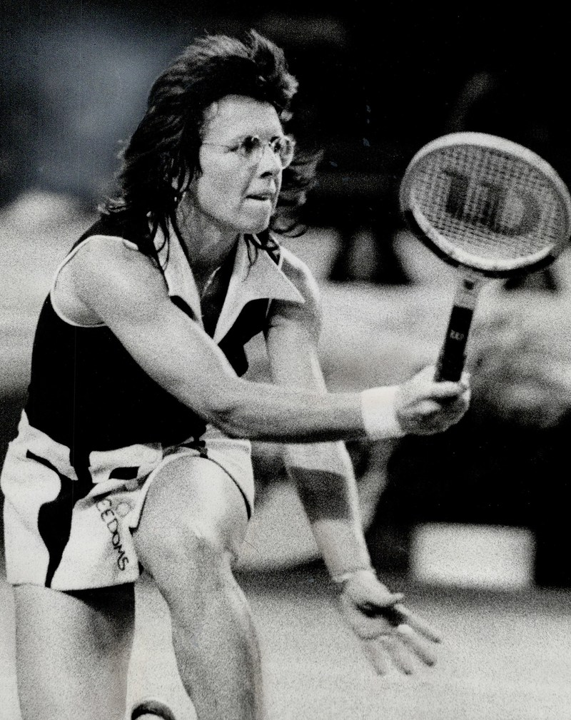"Billie Jean King defeated former men's tennis player, Bobby Riggs, in the renowned ""Battle of the Sexes"" tennis match, marking one of the greatest moments in sports history."