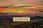 Olive Tree Escapes to Launch Webinar Series on Italy and Croatia Travel for Travel Agents