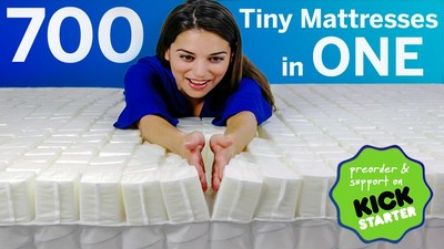"SleepOvation Launches Pre-Order Kickstarter Campaign for Their 700 ""Tiny Mattresses"""