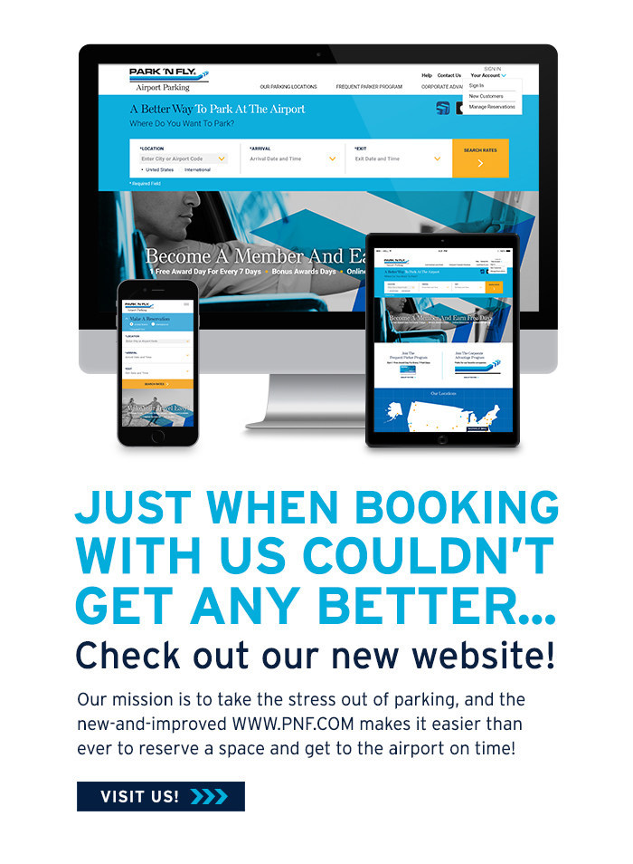 Park 'N Fly New Website Launched!
