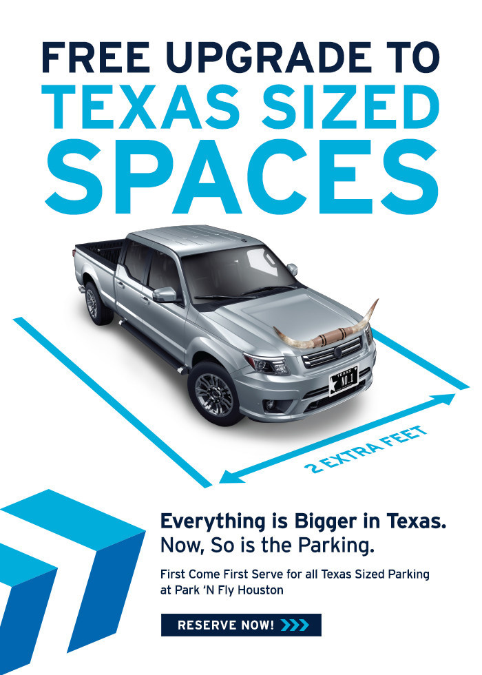Park 'N Fly Texas Sized Spaces