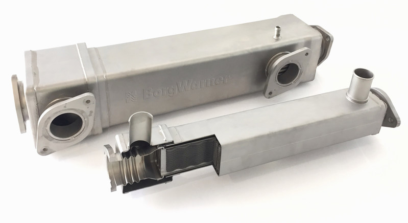 BorgWarner's modular compact floating core EGR cooler series provides durable performance, high robustness against thermal fatigue and reduced emissions for a wide range of commercial vehicle applications.