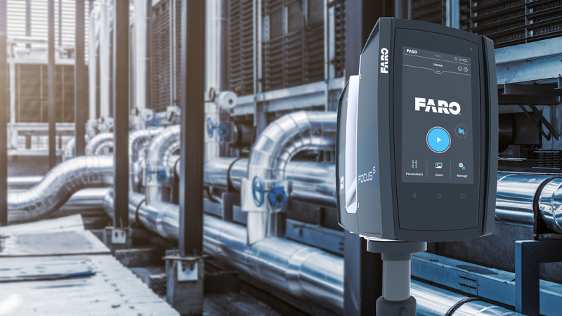 Industrial plants require professional-grade laser scanners such as the FARO Focus S 70 for dependable performance.