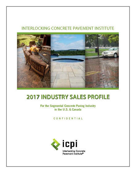Sales of concrete pavers and slabs increased to a projected 721.4 million square feet in the U.S. and Canada during 2016, according to a new study released by the Interlocking Concrete Pavement Institute (ICPI). The 2016 estimated total was the highest sales since 2006 (800 million sf) prior to the recession.