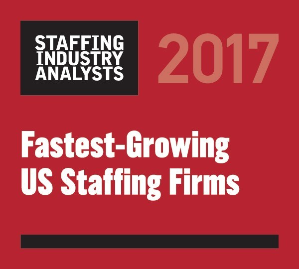 Brilliant was named one of the fastest-growing U.S. Staffing firms for a third year in a row. Visit www.brilliantfs.com for more information.