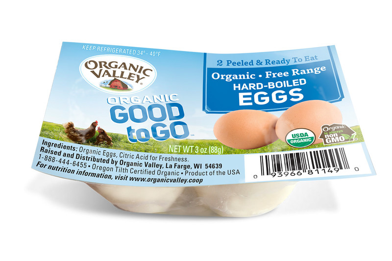 Good to Go™ Hard-Boiled Eggs bring another piece of Organic Valley goodness to on-the-go lifestyles