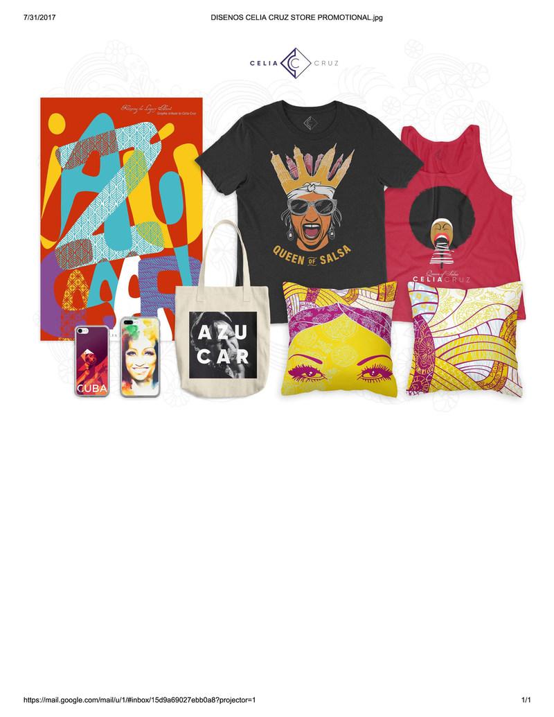 Launching new Celia Cruz merchandise