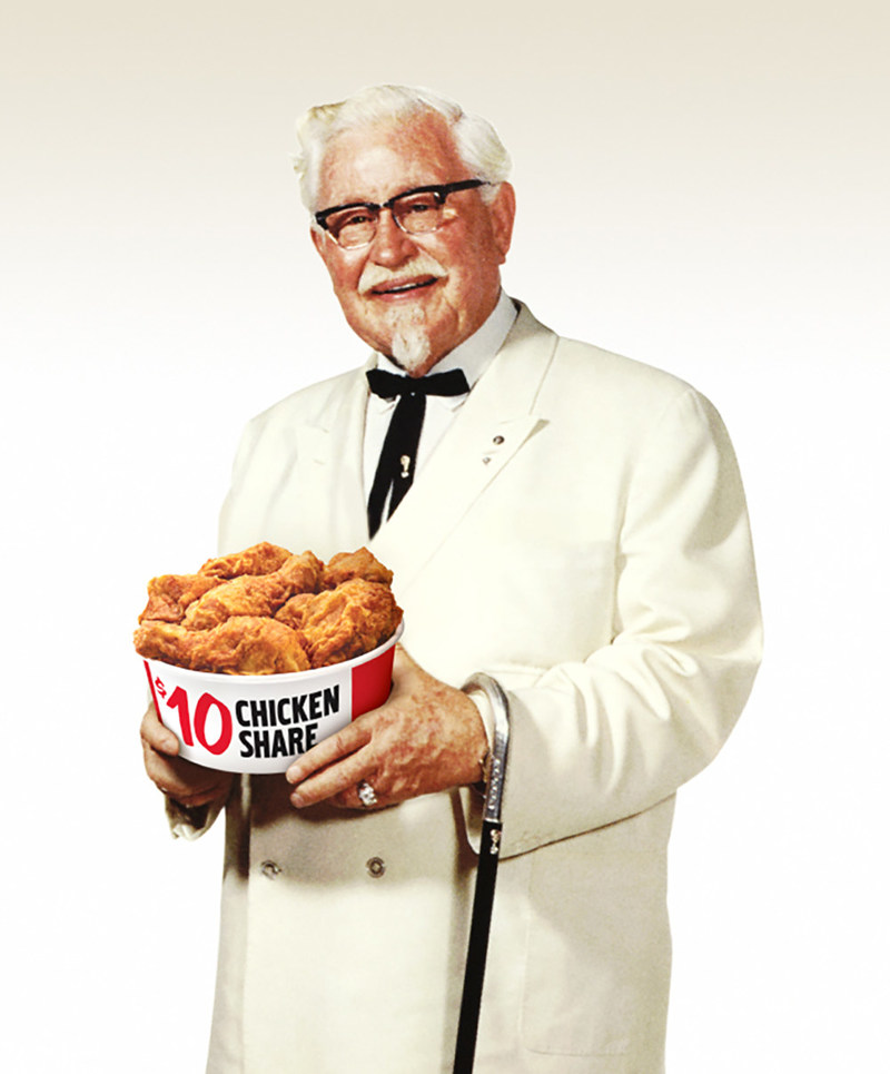 KFC reveals newest celebrity Colonel Sanders: The Original Colonel Harland Sanders