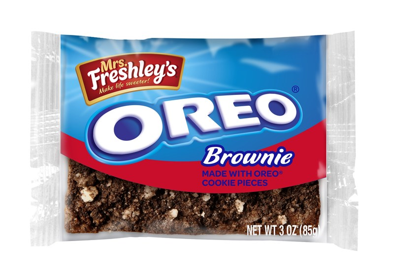 Award-winning snack brand Mrs. Freshley's and OREO® Cookies have joined forces to introduce Mrs. Freshley's Brownie Made with OREO® Cookie Pieces