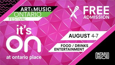 Art & Music Ontario Festival (CNW Group/Ontario Place)