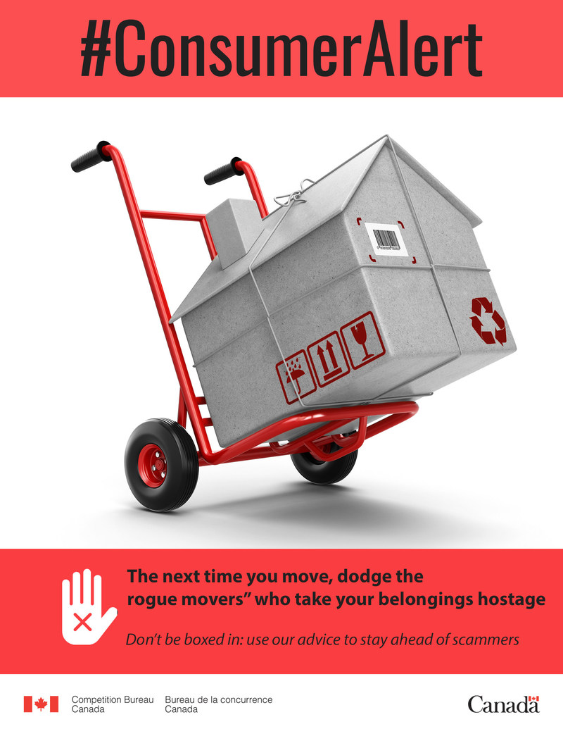 "The next time you move, dodge the ""rogue movers"" who take your belongings hostage (CNW Group/Competition Bureau)"