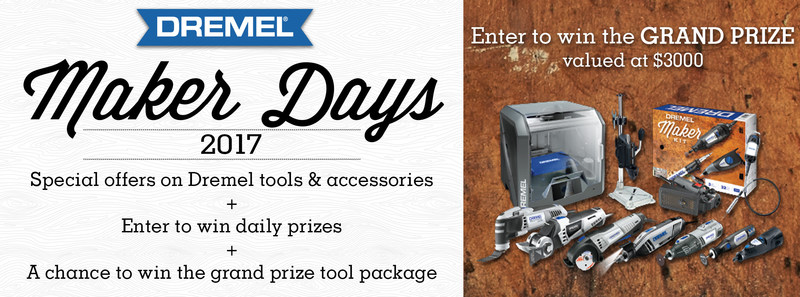 Starting Aug. 1 and running through Sept. 4 on DremelMakerDays.com, Dremel will host a digital calendar of daily sweepstakes and product offers through various retail partners.